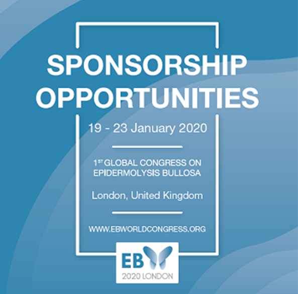 Sponsor, Sponsorship Opportunities, EB2020, EB Congress, EB World Congress, Blisters, Genetic, Skin cancer, Infection