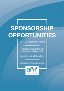 Sponsorship Opportunities, Sponsor, EB2020, EB Congress, EB World Congress, Blisters, Genetic, Skin cancer, Infection