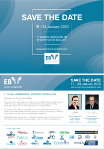 save the date, postcard, downloads, marketing, EB2020, EB Congress, EB World Congress, Blisters, Genetic, Skin cancer, Infection